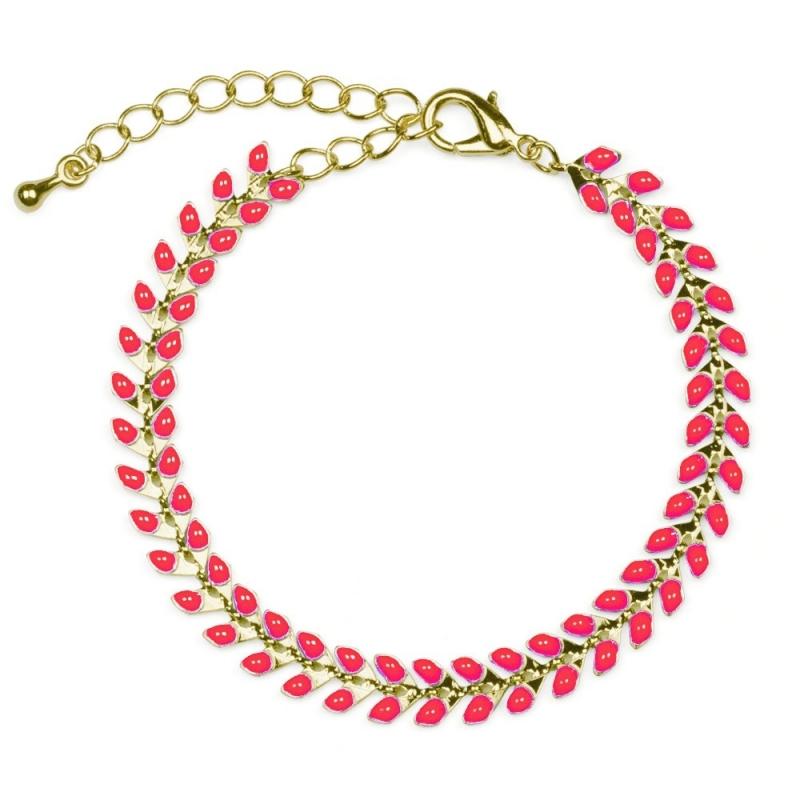 Bracelet Epis Corail Saumon - Boutique Les inutiles