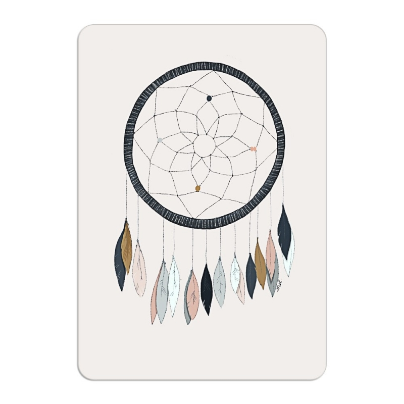 Carte Postale Dreamcatcher - Format A6 ou A5 Illustré par Minimel - Boutique Les inutiles