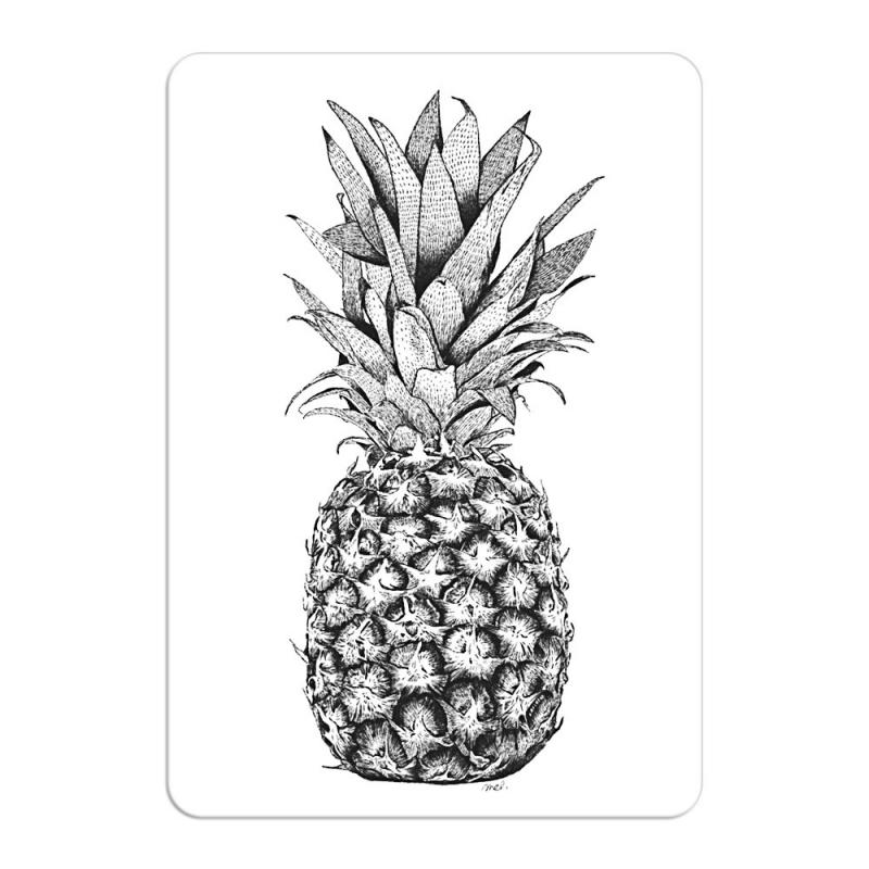 Carte Postale Ananas - Format A6 ou A5 Illustré par Minimel - Boutique Les inutiles
