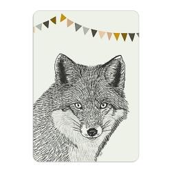 Carte Renard & Fanions - Format A6 ou A5