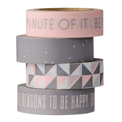 set de 4 Masking Tape Rose