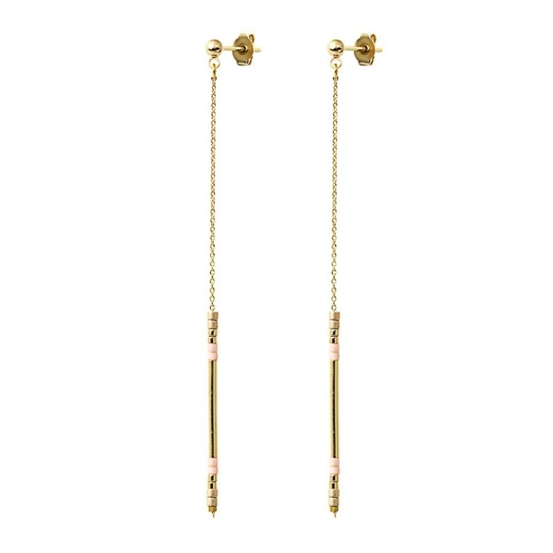 Boucles d'oreilles Alexandra Champagne - Bijoux Caroline Najman - Boutique Les inutiles