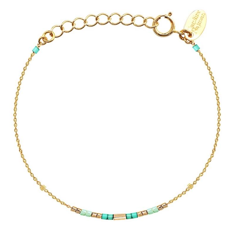 Bracelet Alexandra Mint - Bijoux Caroline Najman - Boutique Les inutiles
