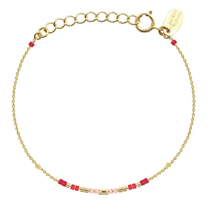 Bracelet Alexandra Framboise - Bijoux Caroline Najman - Boutique Les inutiles