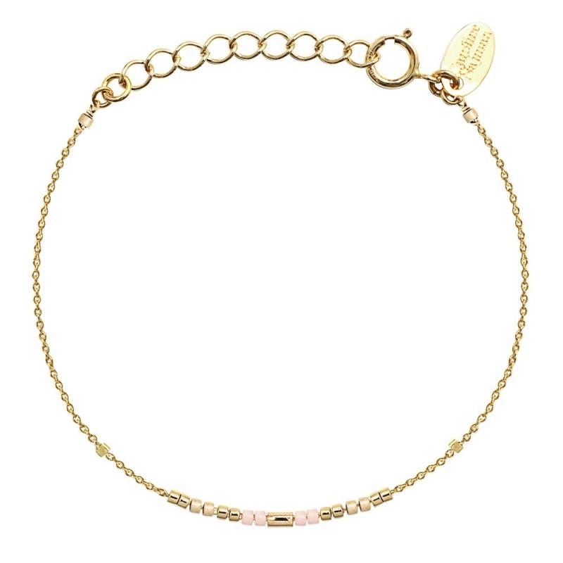 Bracelet Alexandra Champagne - Bijoux Caroline Najman - Boutique Les inutiles