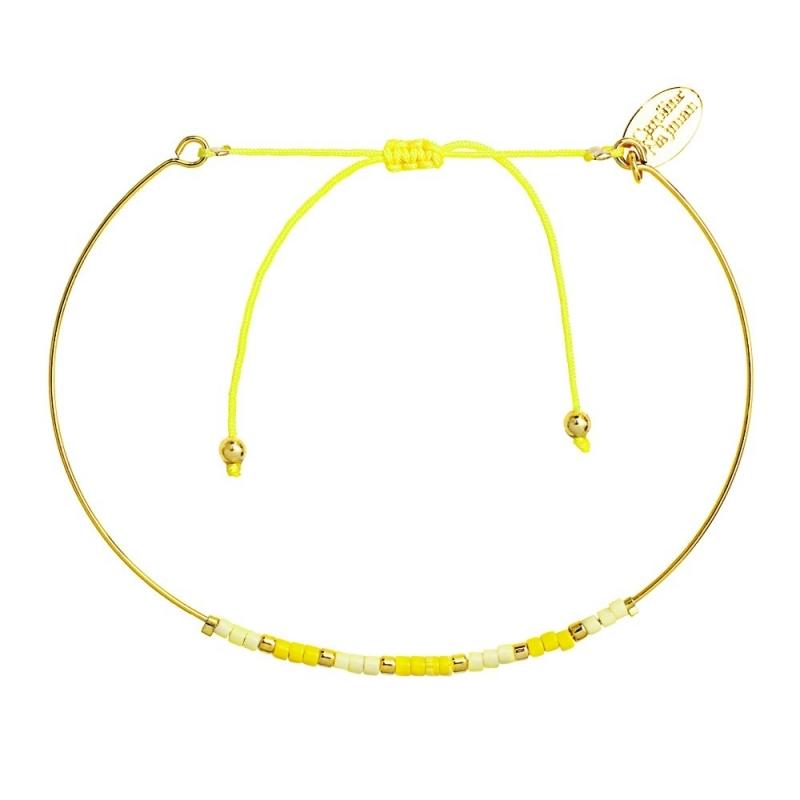 Bracelet Jonc Alexandra Mimosa - Bijoux Caroline Najman - Boutique Les inutiles