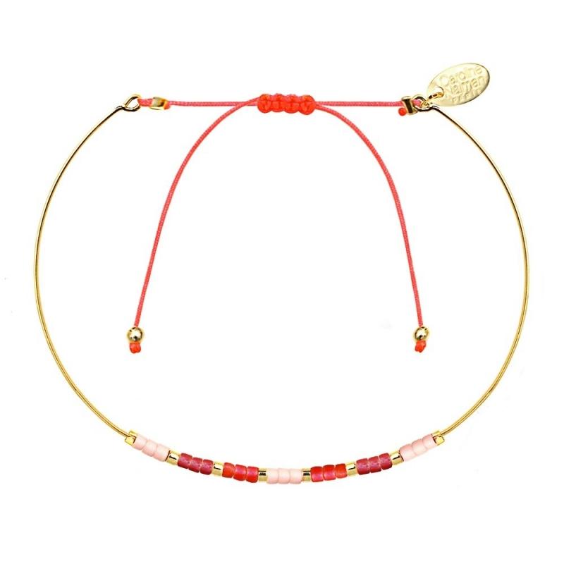 Bracelet Jonc Alexandra Framboise - Bijoux Caroline Najman - Boutique Les inutiles