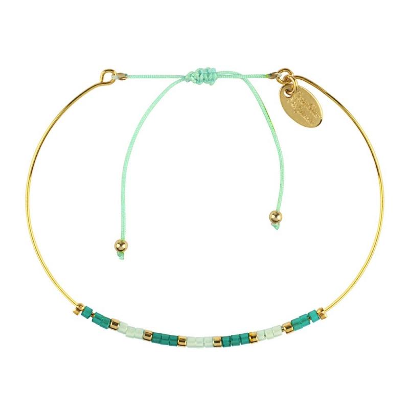 Bracelet Jonc Alexandra Mint - Bijoux Caroline Najman - Boutique Les inutiles