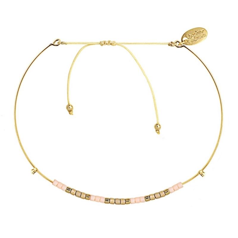 Bracelet Jonc Alexandra Champagne - Bijoux Caroline Najman - Boutique Les inutiles