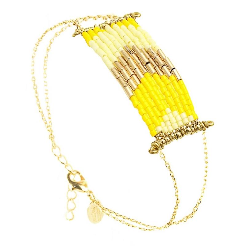 Grand Bracelet Folk Mimosa - Bijoux Caroline Najman - Boutique Les inutiles