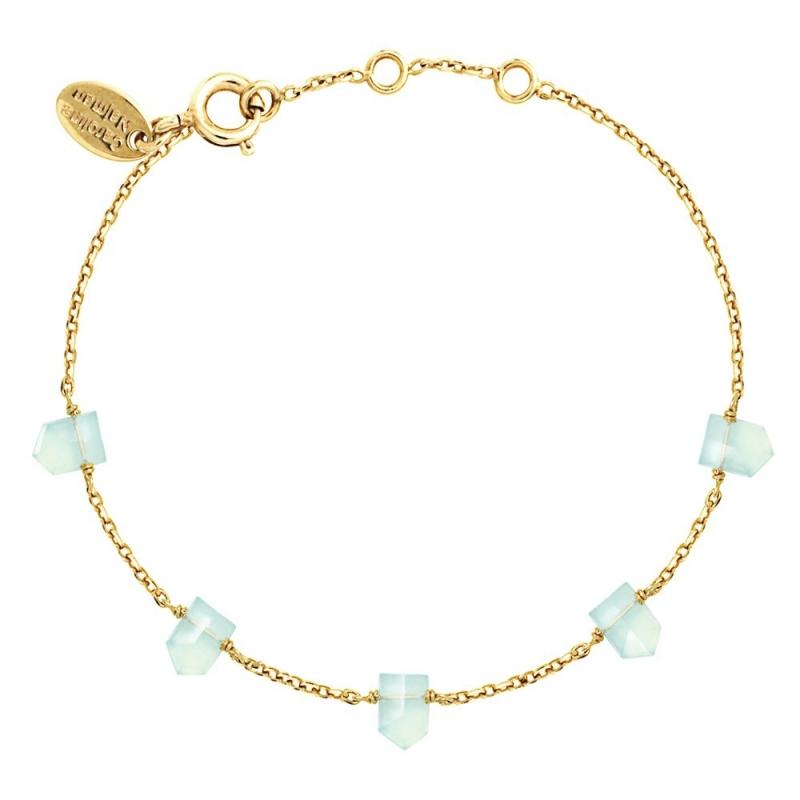 Bracelet Jaipur Calcédoine Bleue - Bijoux Caroline Najman - Boutique Les inutiles