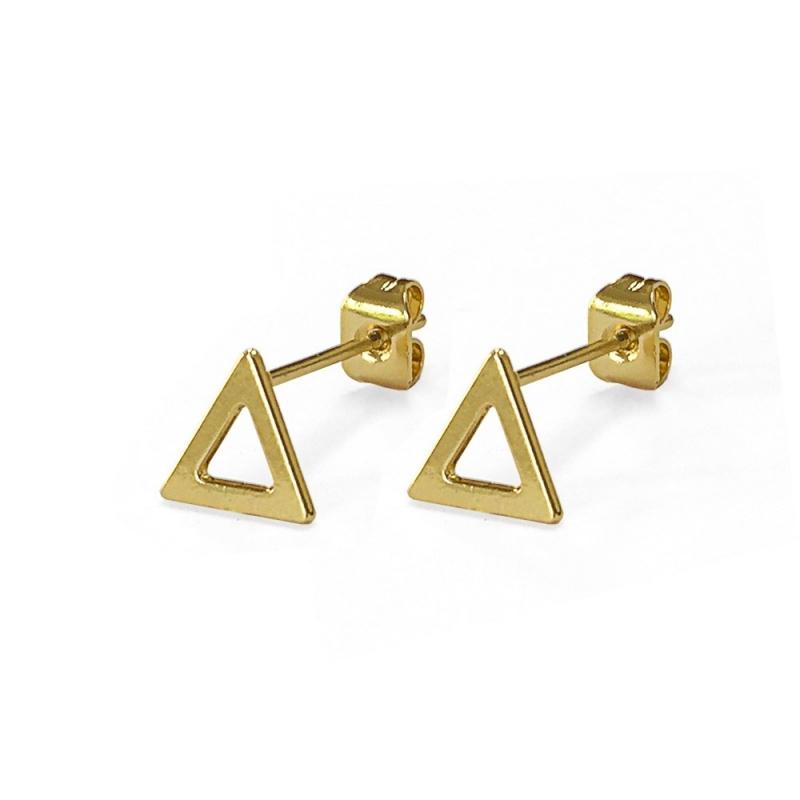 Boucles d'oreilles Triangles Dorés - Les Curiosités d'Elixir - Boutique Les inutiles