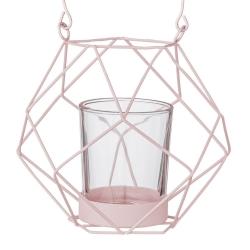 Lanterne Géométrique Rose
