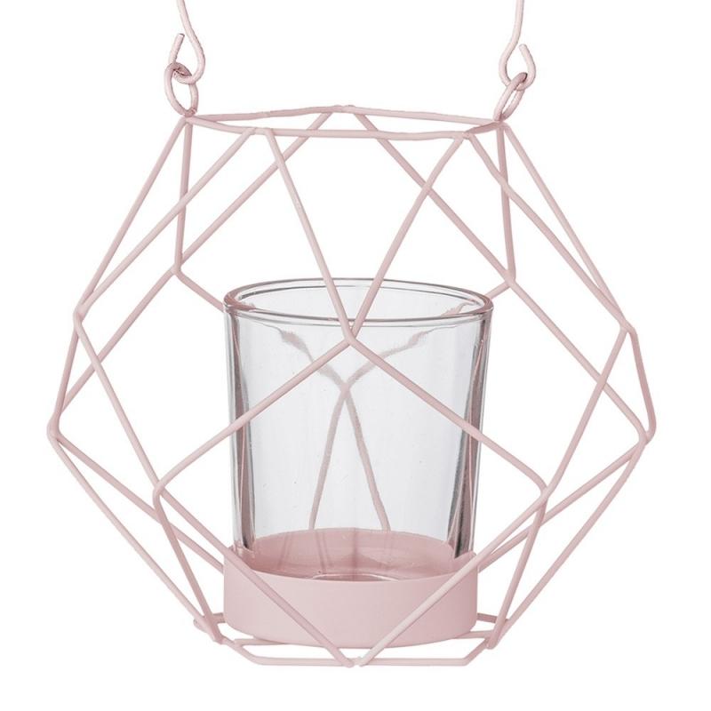 Lanterne en Métal Rose - Bloomingville - Boutique Les inutiles