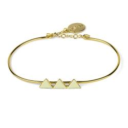 Bracelet Triangles Beige