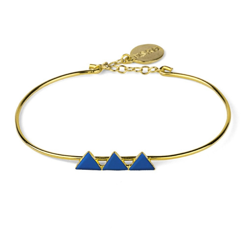 Bracelet Triangles Bleu Marine - Nils Avril - Boutique Les inutiles