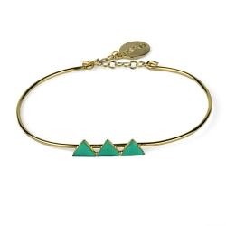 Bracelet Triangles Céladon
