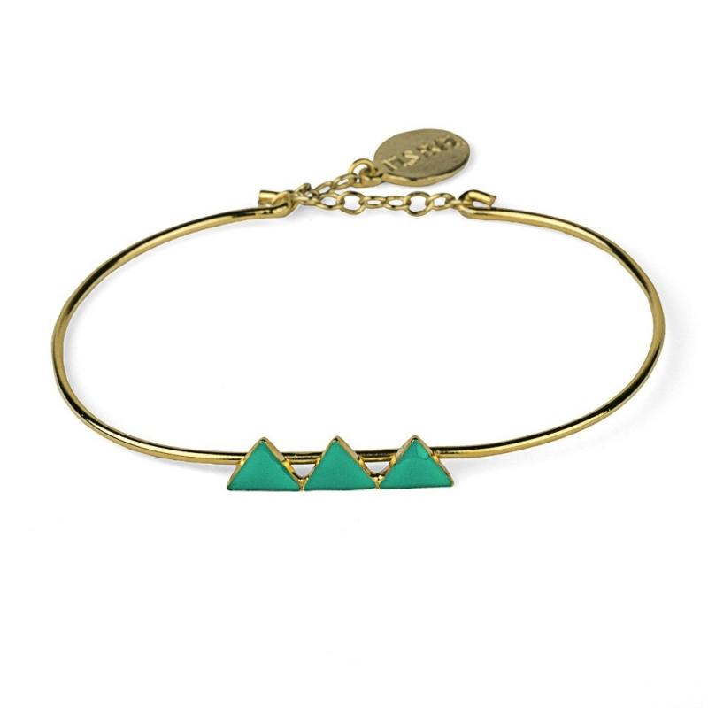 Bracelet Triangles Céladon - Nils Avril - Boutique Les inutiles
