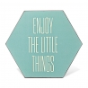cadre octogonal mint Enjoy the little things - Bloomingville - Boutique Les inutiles