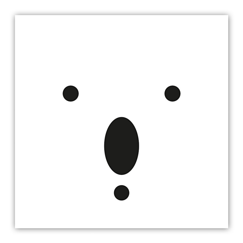 Carte postale Koala - minimalist bears - illustration noir & blanc - boutique Les inutiles