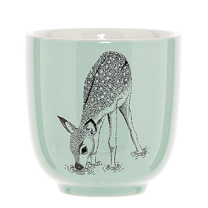 Petit Mug Faon Vert Mint - Bloomingville - Boutique Les inutiles