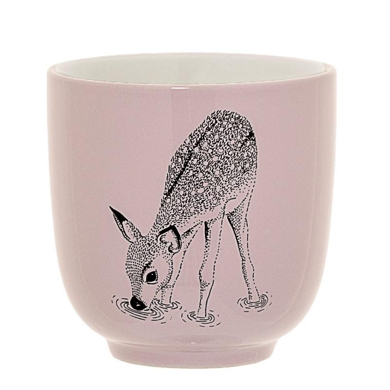 Petit Mug Faon Rose Mauve - Bloomingville - Boutique Les inutiles