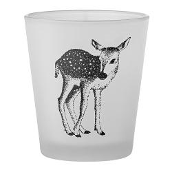 Photophore Bambi Faon • Bougie Bloomingville Votive de Noël Biche et cerf • Déco d'hiver Boutique Les inutiles