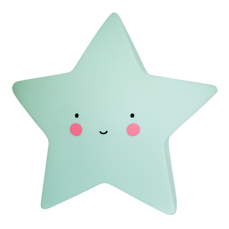 Veilleuse Mini Etoile Mint - Star Light Yellow - A Little Lovely Company - Boutique Les inutiles