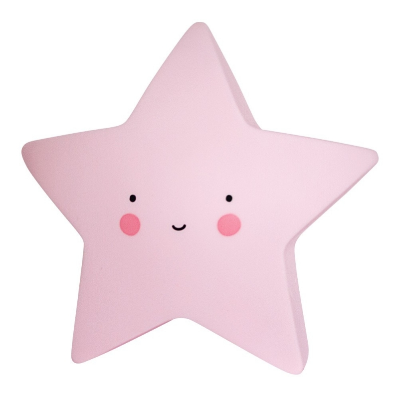 Veilleuse Mini Etoile Rose - Star Light Yellow - A Little Lovely Company - Boutique Les inutiles