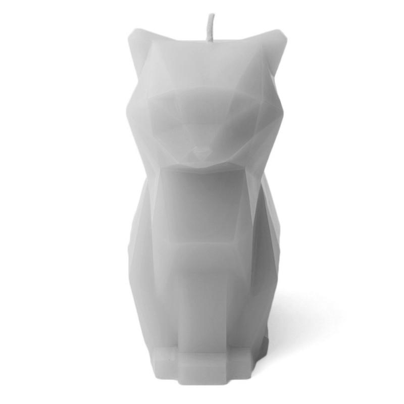 Bougie Kisa Gris - Bougie Chat Squelette - Pa-design - Boutique Les inutiles
