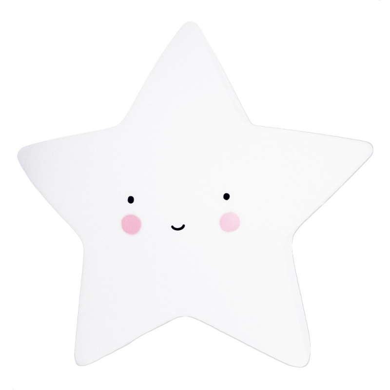 Veilleuse Mini Etoile Blanche - Star Light White - A Little Lovely Company - Boutique Les inutiles
