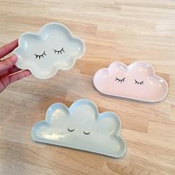 Assiette à dessert nuage Bloomingville mini - plateau cloud boutique Les inutiles