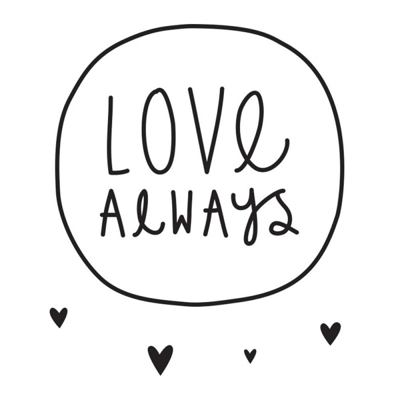 Sticker Cœurs Noirs - Love Always - A Little Lovely Company - Boutique Les inutiles