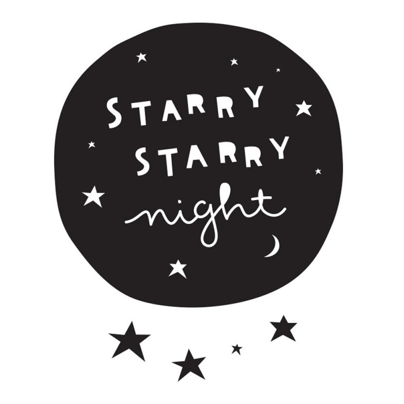 Sticker Nuit Etoilée - Starry Night - A Little Lovely Company - Boutique Les inutiles