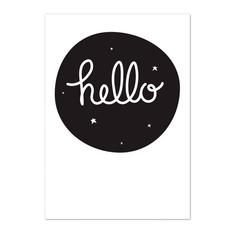 Poster Hello - Affiche Bonjour - A Little Lovely Company - Boutique Les inutiles