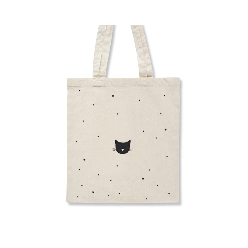 Tote Bag Petit Coeur - Sac Chat - Illustré par Audrey Jeanne - Boutique Les inutiles