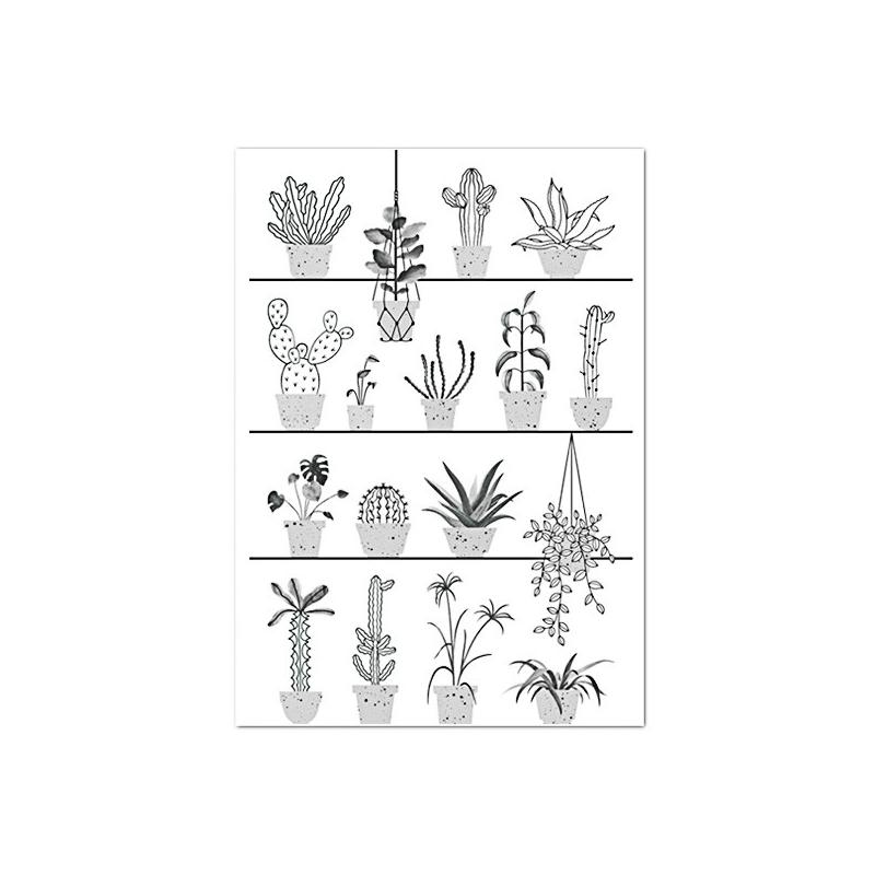 Affiche Cactus - Poster Botanic - Illustré par Audrey Jeanne - Boutique Les inutiles
