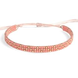 Bracelet Miyuki - n°3 Corail