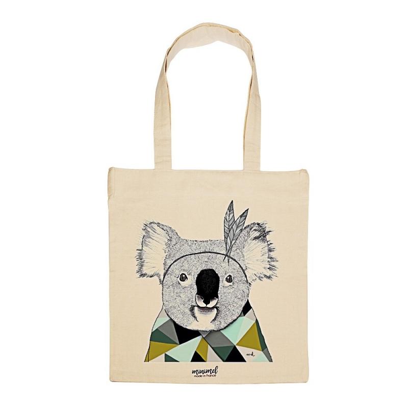 Tote Bag Koala Sioux - Illustré par Minimel - Boutique Les inutiles
