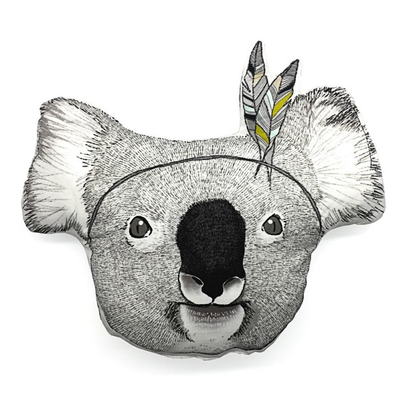 Coussin Koala Sioux - Illustré par Minimel - Boutique Les inutiles