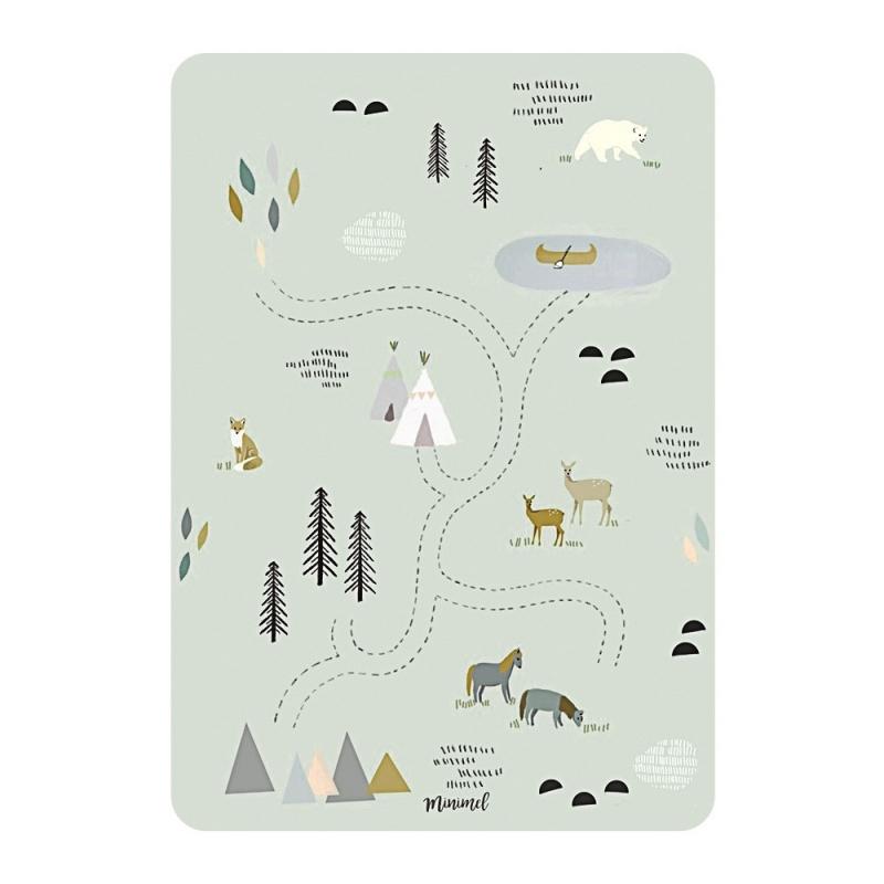 Carte Postale WestWorld - Format A6 ou A5 Illustré par Minimel - Boutique Les inutiles