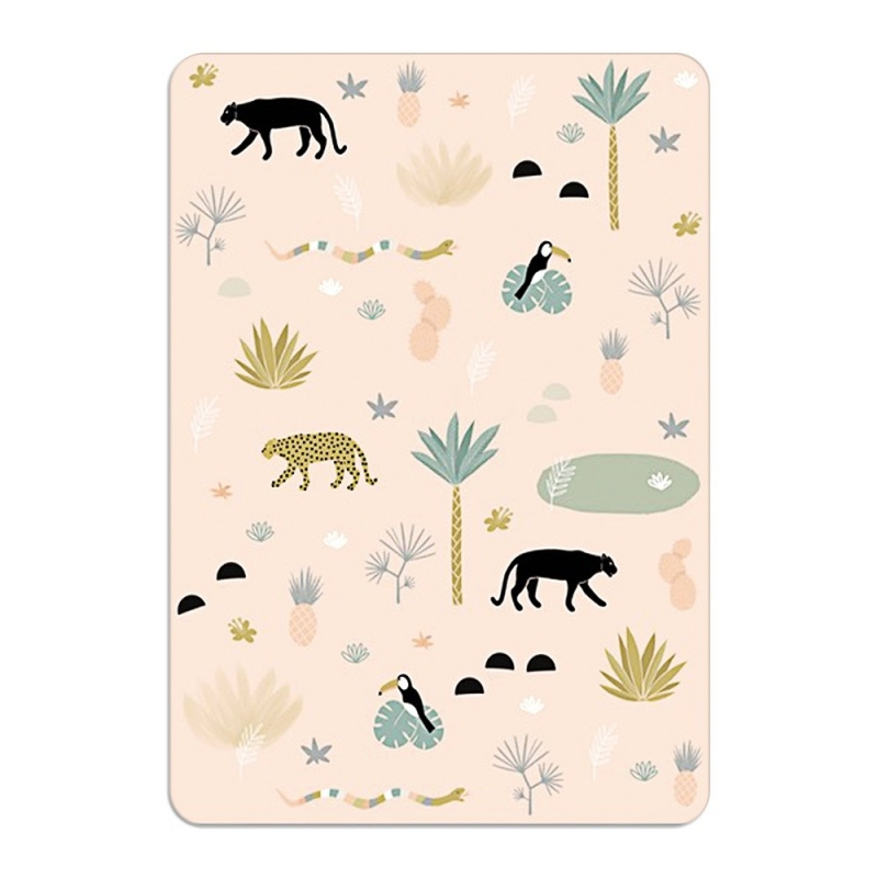 Carte Postale Jungle World - Format A6 ou A5 Illustré par Minimel - Boutique Les inutiles