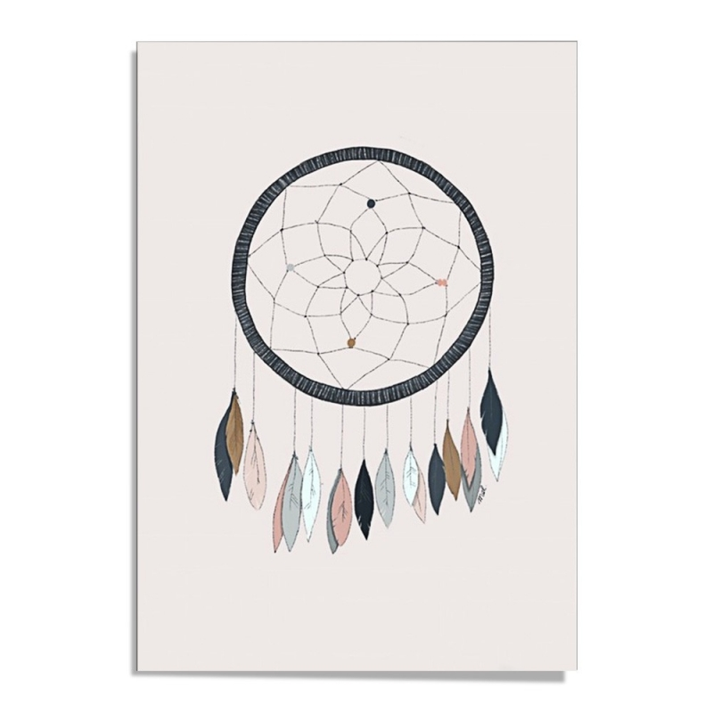 Affiche A3 Dream Catcher - Illustrée d'un attrape-rêves par Minimel - Boutique Les inutiles