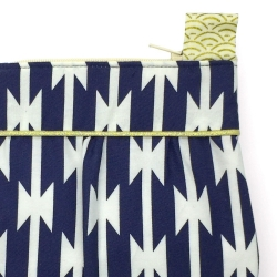 a3bf15abc8 Pochette Mauricette Bleu Marine & Or - Made in France - Boutique Les  inutiles.  