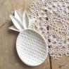 assiette ananas blanc - boutique Les inutiles