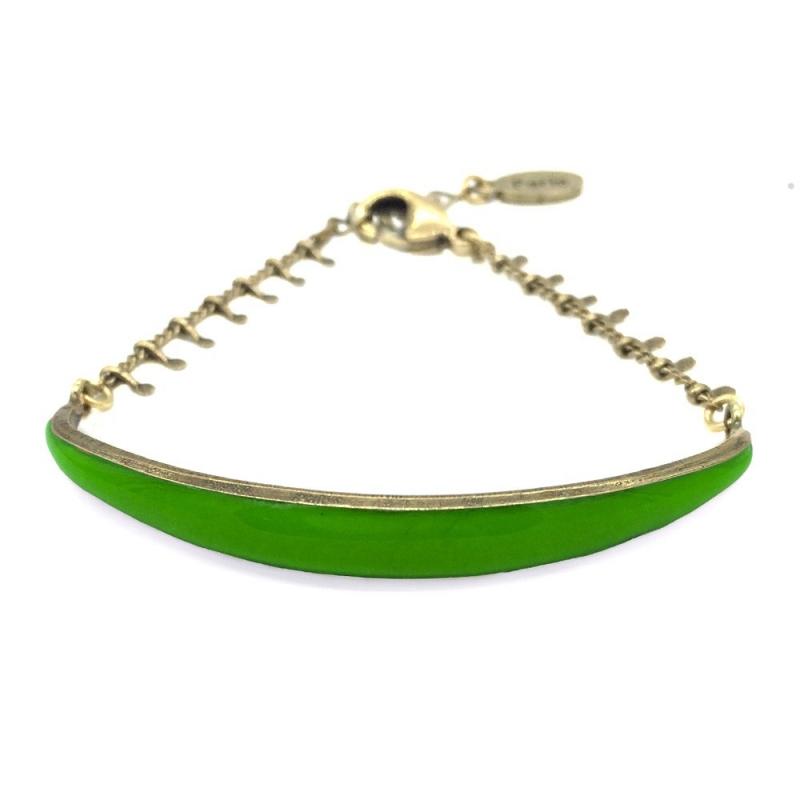 Bracelet Léonie Vert Absinthe - Bijoux Marine de Diesbach - Inspiré des Années 20 - Boutique Les inutiles