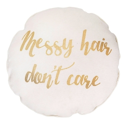 Coussin Rond - Messy Hair