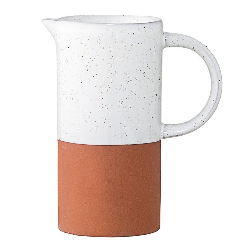 Pot à Lait Terracotta Mat et Blanc - Bloomingville - Boutique Les inutiles