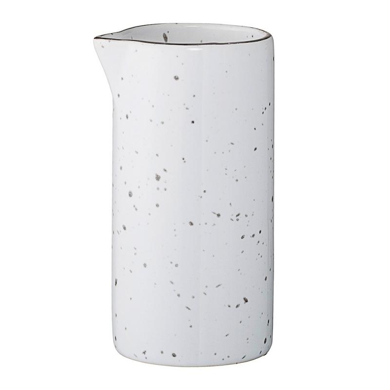 Pot à Lait Blanc Emily - Liseré Argent  - Bloomingville - Boutique Les inutiles