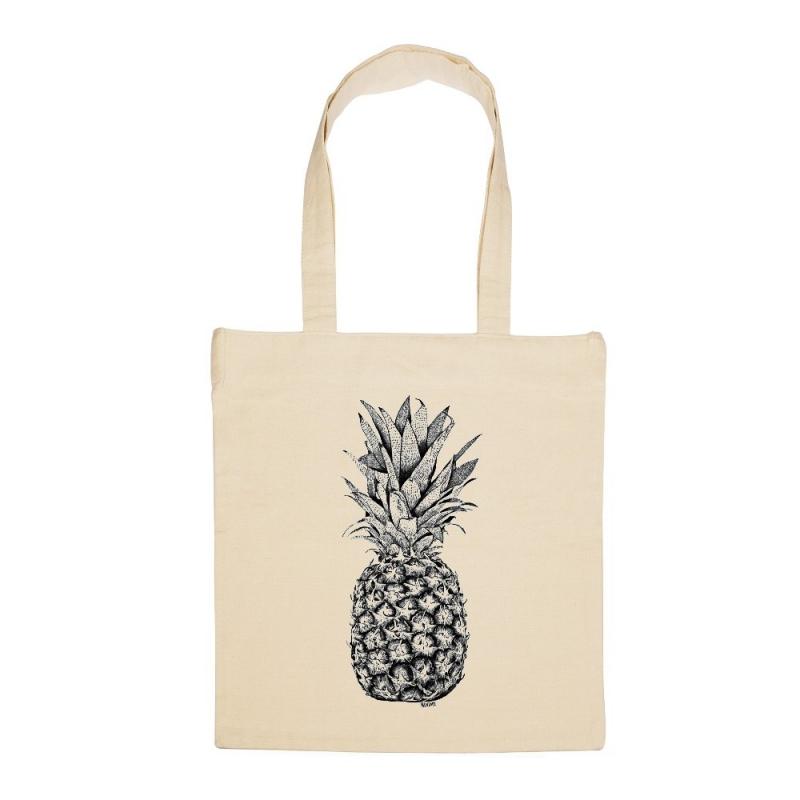 Tote Bag Ananas - Illustré par Minimel - Boutique Les inutiles